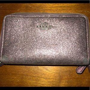 Authentic Coach Zipper Wallet/wristlet